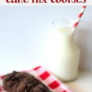 Triple Chocolate Fudge Cake Mix Cookies.