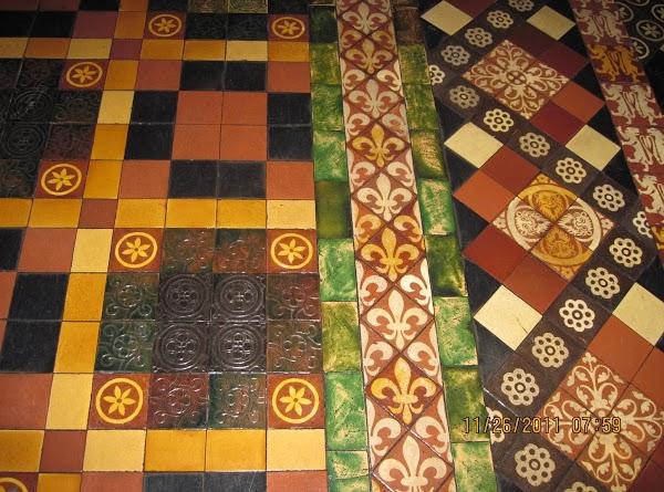 Beautiful tile patterns on the floor