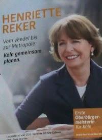 Wahlplakat: Henriette Reker.