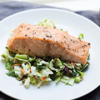 Baked Salmon with Chopped Salad