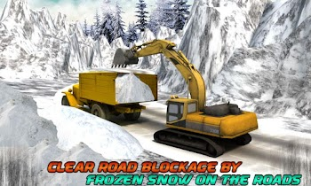 Winter Snow Rescue Excavator - screenshot thumbnail 02