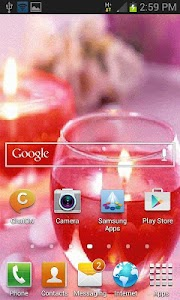 Glass Candle Live Wallpaper screenshot 2