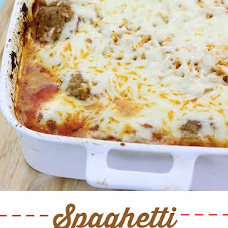 No Boil Spaghetti and Meatball Casserole.