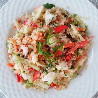 Thai Quinoa & Crab Salad with Yuzu Vinaigrette