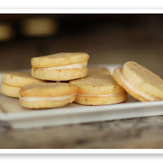 Lime Sandwich Cookies with Coconut Cream Frosting.