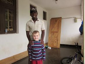 Photo: Yusufu. De zoon van onze overleden tuinman. Een blij weerzien!