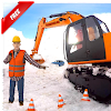 Excavator Pull Tractor: City Snow Cleaner