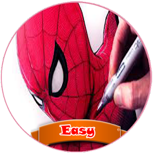 how to draw spider MEN - náhled