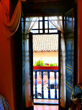 Photo: Yoga view from our room at Hostal Posada del Angel in Cuenca, Ecuador.  June 2012.