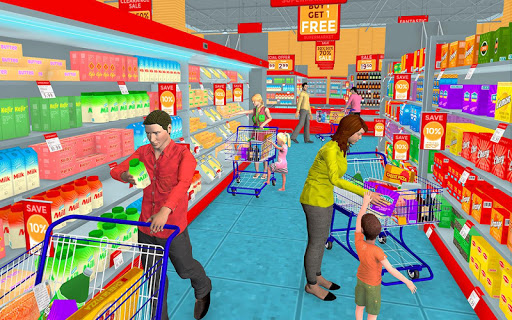 Supermarket Grocery Shopping Mall Family Game 1.5 screenshots 7