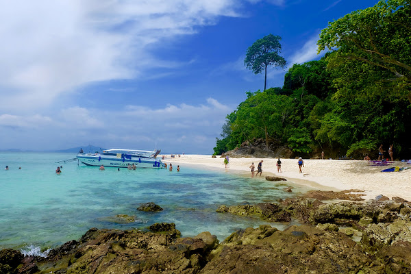 Stop at Bamboo Island for a lunch at the beach