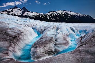 Photo: I probably won't have much time this week to process any of my new work, but there is still a ton in the archives that I haven't posted yet. So in order to keep the photos coming, here is one from a few years ago. I was in Juneau for 10 days and just fell in love with the Mendenhall Glacier. Walking on top of a glacier is just an otherworldly experience. I can't hope to compete with +Kent Mearig and his awesome Mendenhall photos, but here is one of the 3 or 4 shots I got from my 2 hours on top of the glacier.