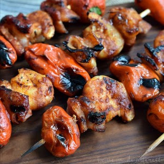 Grilled BBQ and Bacon Shrimp Skewers