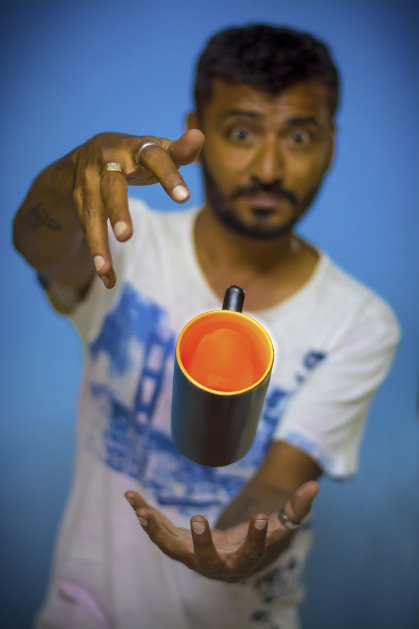Raavan by Himanshu Jethva - People Portraits of Men ( cup, magic, raavangraphy, levitation, fly, hands, magical, india )