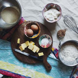 Greek Yogurt Marble Pound Cake