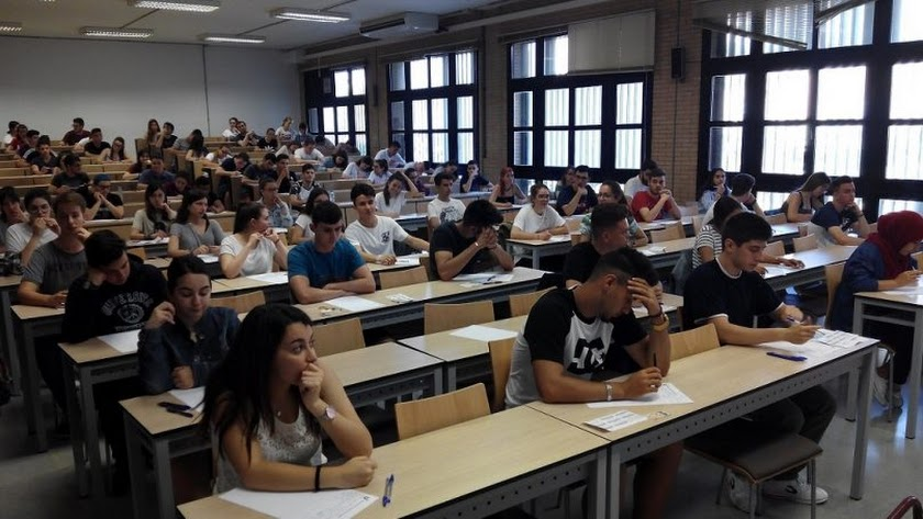 prueba de selectividad el año pasado en la Universidad de Almería.