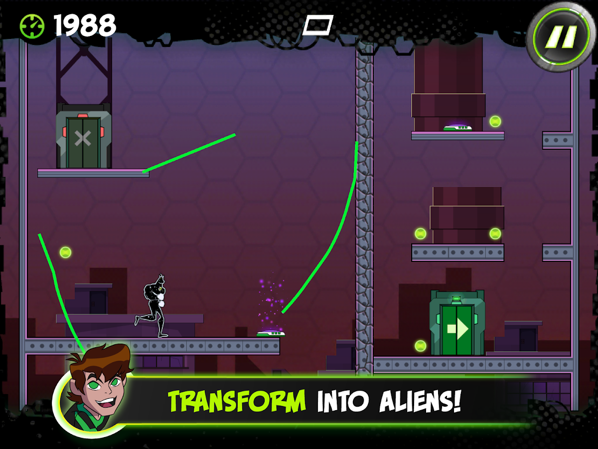 Ben 10 Cavern Run- screenshot