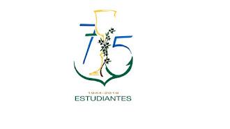 Logotipo diseñado por Javier Barranco para los 75 años de Estudiantes
