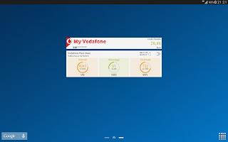 Screenshot of My Vodafone