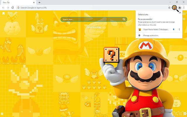 Super Mario Maker 2 Wallpapers New Tab