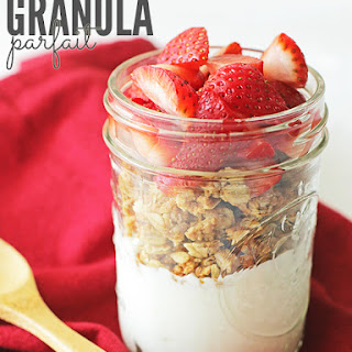 Peanut Butter and Jelly Granola Parfait