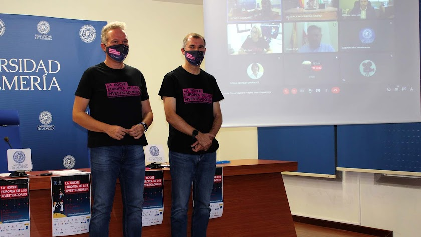 Presentación de la programación de la Noche Europea de los Investigadores, esta mañana en la UAL.