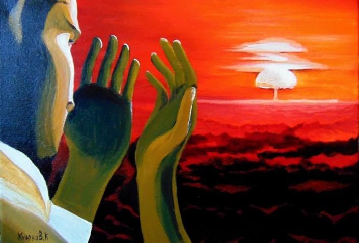 Взрыв. Картина Карипбека Куюкова