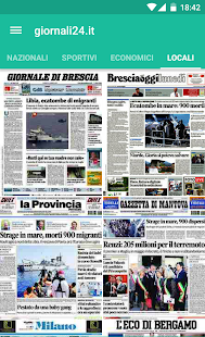 Italian Newspaper Front Pages- screenshot thumbnail