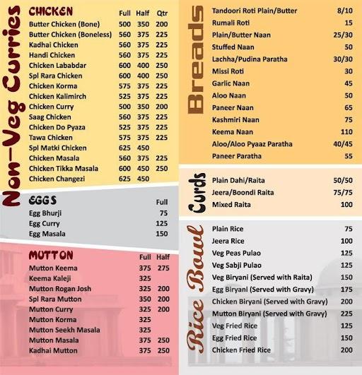 Zaika- The Taste Of Mugals menu 1
