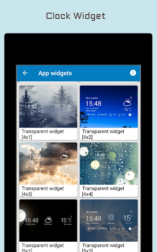 Weather Forecast & Clock Widget Apps (apk) gratis te downloaden voor Android/PC/Windows screenshot