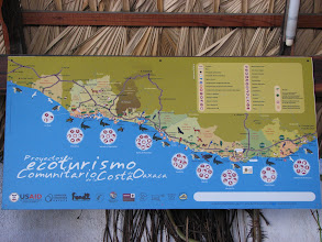 Photo: This is a nice depiction of the ecotourism available along the southernmost coast of Mexico. Huatulco at the right side.