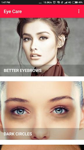 Eye Care - Eye Exercises, Dark Circles, Eyebrows Apk 1