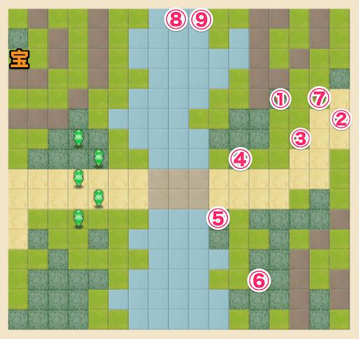ノーマル3-5のキャラ配置マップ