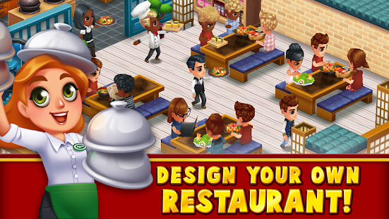 Food street restaurant management food game apps on for Design your own house simulator