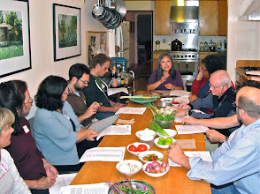 Photo: class begins with Kasma going over the recipes and introducing ingredients