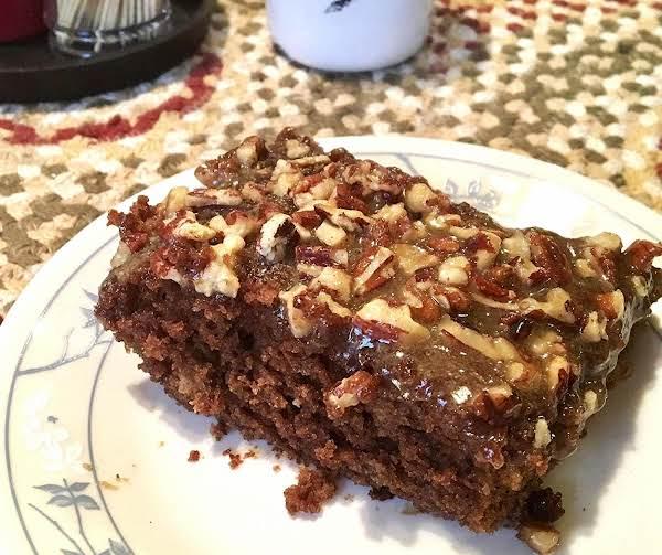 ~ Chocolate Caramel Pecan Cake ~