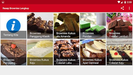 Resep Brownies Lengkap 1.2 APK + Mod (Unlimited money) إلى عن على ذكري المظهر