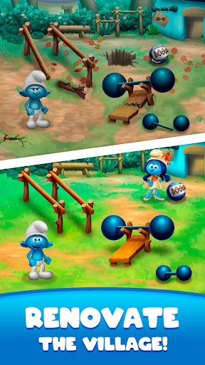 Smurfs Bubble Shooter Story screenshots 1
