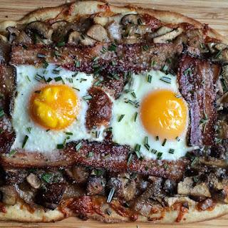 Breakfast Pizza with Rosemary, Bacon, Mushroom, & Caramelized Onion Recipe