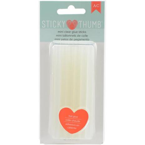 American Crafts Sticky Thumb Mini Hot Glue Sticks - 4X.28 24/Pkg