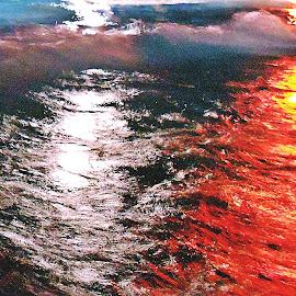 by Bojan Dobrovodski - Abstract Light Painting ( watercolor swiming pool wave light )