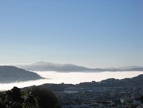 Photo: Long lasting fog fills Wellington Harbour - 2:56pm, 1-Jul-06
