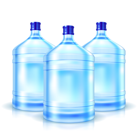Big bottles with water for cooler