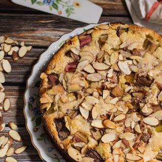 Rhubarb Ricotta Almond Cake.
