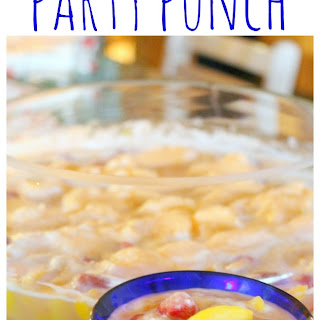 Strawberry Peach Ginger Ale Party Punch Recipe!.