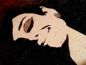 """Photo: Audrey Hepburn photographed by Douglas Kirkland, at the Studio de Bolougne, Paris, during the making of """"How to Steal a Million"""", November 1965  30x30cm  Soggetto realizzato con stencil fatto a mano, colori acrilici spray, pizzo e stoffa in cotone 100%, cristallo decorativo, strass di resina su sughero.  Subject made with handmade stencil with spray acrylic colours, lace and 100% cotton fabric, deco crystal, resin strass on cork.  DISPONIBILE  Per informazioni e prezzi: manualedelrisveglio@gmail.com"""