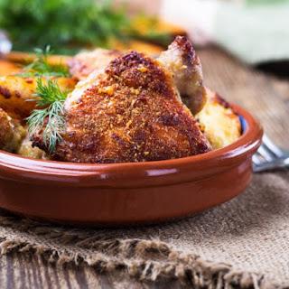 Garlic And Cheddar Chicken Thighs.