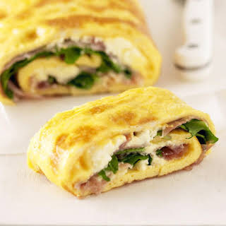 Omelette and Prosciutto Roll.
