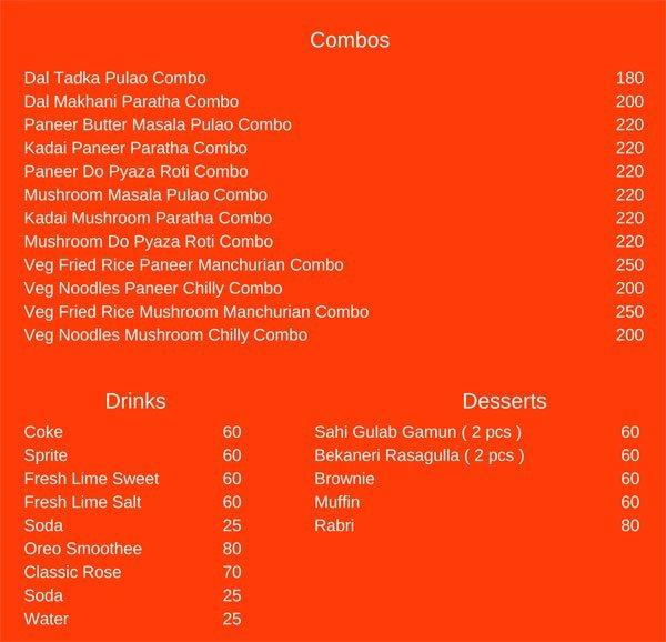 Night Panda menu 2
