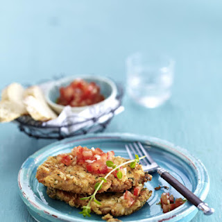 Parmesan Pork Schnitzel with Salsa